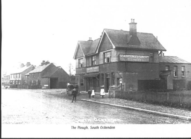 The Chiddicks home on the left of the pub