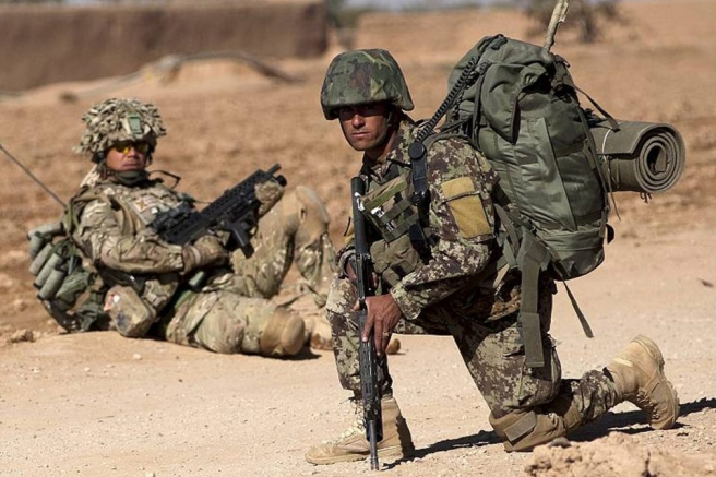 British and Afghan Soldiers Together in Afghanistan