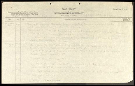 Harry Joseph Keyes War Diary 1