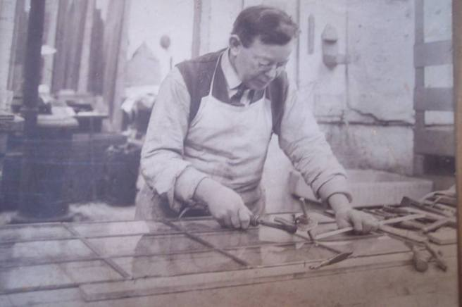 William Tom Wootton at work