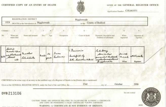 Matthew Chiddicks Death Cert 02-11-2006 13;58;35