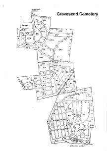 Gravesend Cemetery map