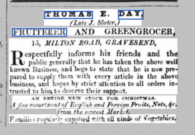 Thomas E Day Fruiterer