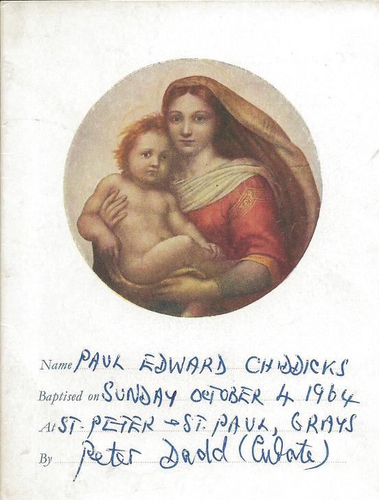 My Christening Record