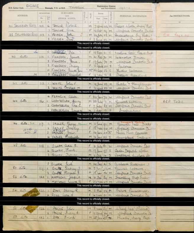 Frank Day 1939 Register