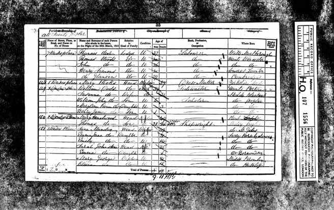 Henry James Dodd Census Returns 1851