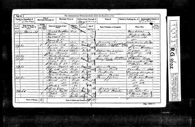 Thomas Wootton Census Return 1861